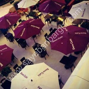 سایبان چتری در رستوران