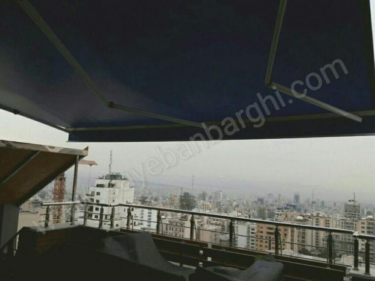 پروژه سایبان برقی پنت هاوس برج آبان